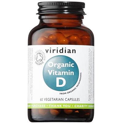 Viridian Organic Vitamin D 60 Kapslí