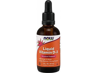 NOW Foods Tekutý vitamín D3 400 IU 57 ml