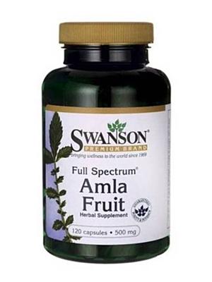 Swanson Amla Fruit 500 mg 120 kapslí