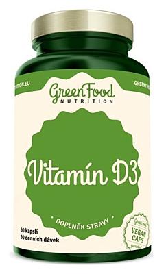 GreenFood Vitamín D3 60 kapslí