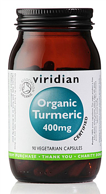 Viridian Turmeric 400mg Organic 90 kapslí