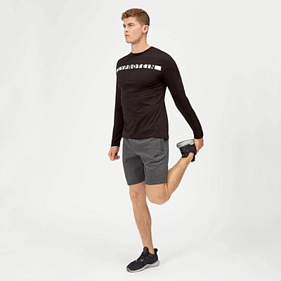 MyProtein pánské sportovní tričko s dlouhým rukávem - černé
