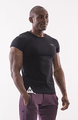 Nebbia pánské sportovní tričko MUSCLE BACK 728 Černá